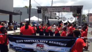 Kipp Central City Academy Marching Tigers perform at New Orleans Peace Fest 2015
