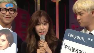 [160515] BTS Jin & Rapmonster with Tiffany Interview @ Inkigayo