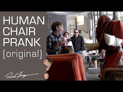 Human Chair Scare Prank Original