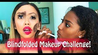 BLINDFOLDED MAKEUP CHALLENGE FT. JANINA (@OfficialJanina) | Liane V
