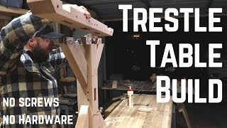 Building A Heirloom Quality Timber Frame Trestle Table // Woodworking  // How To