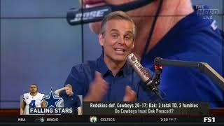 HOT Redskins def Cowboys 20 17; Dak  2 total TD, 2 fumbles   THE HERD