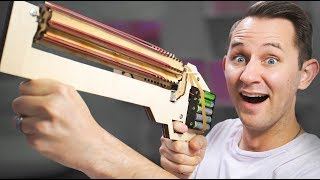 Rubber Band Machine Gun? | 10 Strange Projectile Weapons