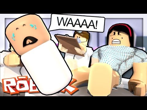 GIVING BIRTH TO A BABY IN ROBLOX?! | Roblox Hospital
