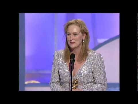 Meryl Streep Wins Best Supporting Actress Motion Picture Golden Globes 2003