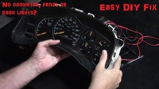 Silverado dash lights and PRNDL/odometer repair.