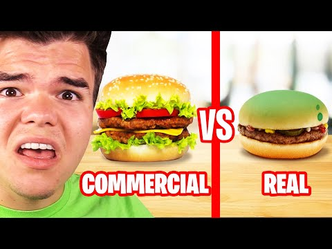 Reacting To COMMERCIALS vs. REAL LIFE FOOD Insane