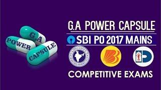 GA Power Capsule (EP-1) For SBI PO MAINS, NIACL, BOB PO, DENA BANK PO & COMPETITIVE EXAMS