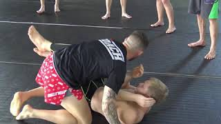 George Hickman teaches takedown combination @ Tiger Muay Thai