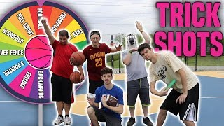 HARDEST SPIN THE WHEEL OF BASKETBALL TRICKSHOTS MINI GAME!!