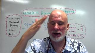 Intro To Work, Energy, and Simple Machines Part I   Work, KE, and PE