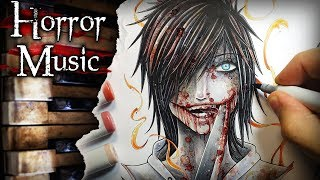 Jeff The Killer Creepypasta Drawing + Horror Music