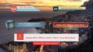 After Effects  / 5 Lower Third / Free Download