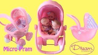 Dream Creation Micro Pram Little girl Bad Mummy Play with Baby Dolls Baby Annabell Lil Cutesies