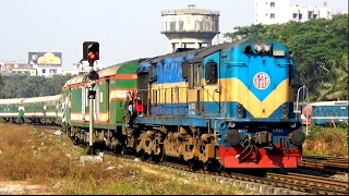 (Full HD) Silk City Express  (Rajshahi To Dhaka) speedy train of Bangladesh Railway