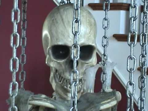 Life Size Animated Caged Skeleton with Stand doll lovers paradise