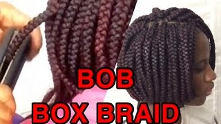 HOW TO /BOB BOX BRAIDS /using a straightener to seal the tip