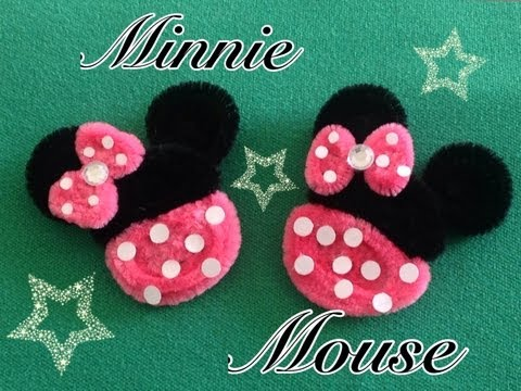 MINNIE MOUSE HECHA CON LIMPIA PIPAS. PIPE CLEANERS MINNIE MOUSE . DIY