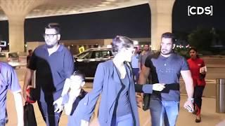 Kajol HOT Plunging Neckline VIsible At Airport