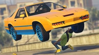 GTA 5 Online - CRUSHING PEOPLE WITH THE RUINER 2000! (GTA V Online)