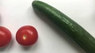 How to make salad shirazi سالاد شيرازي درست كنيم