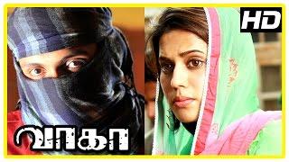 Wagah Tamil movie scenes | Karunas warns Vikram Prabhu | Ranya misunderstands Vikram Prabhu