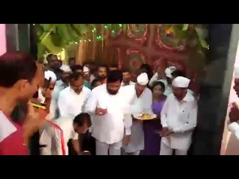 Inauguration of Dharmaveer Anand Dighe meeting hall by Eknath Shinde Saheb and Madhukar Pawshe Saheb