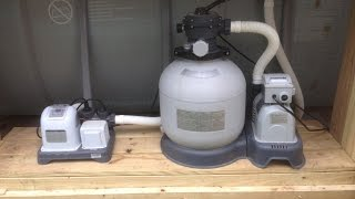 How to backwash Intex sand filter