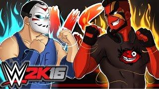 WWE 2K16 | BATTLE OF THE FAN CREATIONS! (H2O Delirious vs CaRtOoNz)