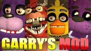 PLAYABLE ANIMATRONICS 5! - Gmod Five Nights At Freddy's Updated Pill Pack Mod (Garry's Mod)