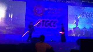 Fight Saber Performance (Lightsaber Art) @ STGCC 2012 Marina Bay Sands