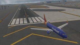 Southwest Airlines Flight 278 Overruns Runway - Animation [X-Plane11]