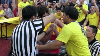 SAL Armwrestling Championship 2015(Open RH) - Book Sutiwat(Thailand) Vs Jiseung Hong(Korea)