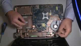 Toshiba Satellite C660 13R disassembly & fan cleaning