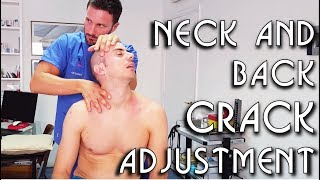 💆 Osteopathic Adjustment: Neck Back Legs Feet Arms and Mouth Cracking - ASMR video
