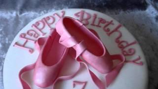 ballett shoe birthday cake