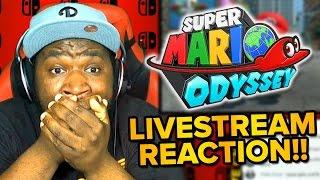 Super Mario Odyssey - LIVE REACTION & Gameplay Trailer!