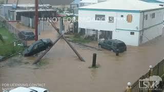 09-06-2017 St.thomas UsVI Damage aftermath of catastrophic category 5 hurricane Irma.