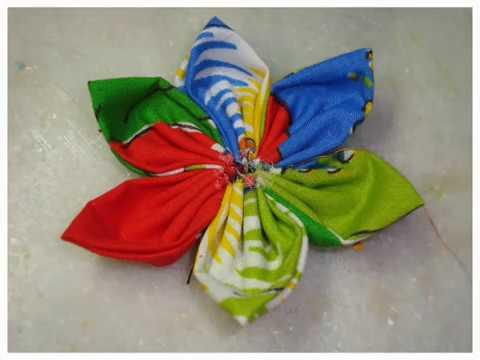 Flor de Tecido Costurada Fuxico