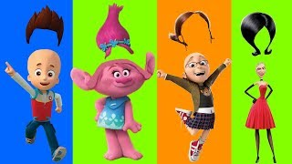 Despicable Me 3 Wrong Hair Bad Margo Scarlet Poppy Trolls Paw Patrol Finger Family Nursery Kids Toy