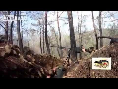 18+ Syria- FSA Terrorists attack Syrian Army check-point and fail...All Terrorists killed