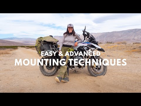 Easy to Expert Motorcycle Mounting & Dismounting Techniques Petite Rider on a Big ADV Bike Tips