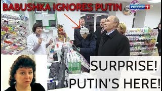 SURPRISE! Putin Visits A Pharmacy, Employees Can Not Believe Their Eyes, Babushka Ignores Him!