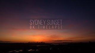 Sydney sunset 8K timelapse