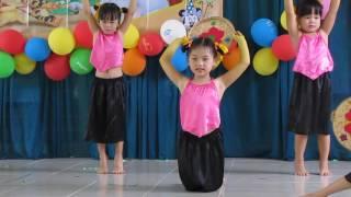 Múa Cánh đồng tuổi thơ. Lan Anh. Mầm non An Hòa 2016