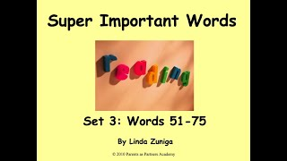 Super Important Words Set 3 by Linda Zuniga