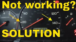 HONDA ILLUMINATION NOT WORKING * HOW TO FIX * instrument cluster lights