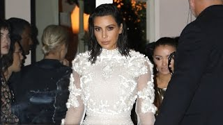 Kim Kardashian Stunning In Givenchy Gown, Asked About Having 3rd Baby At LA Fashion Awards