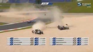 Acidente gravíssimo de Pedro Piquet na F3 EURO