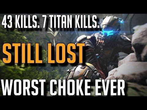 Titanfall 2 - WORST CHOKE OF MY LIFE. 43 Kills, 7 Titan Kills, STILL LOST.